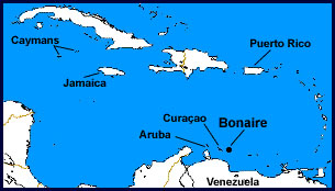 Caribbean Map featuring Bonaire